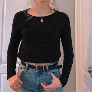 Black knit Aritzia sweater-top